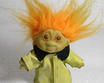"""Original 1986 DAM troll  in Long Coat  5""""tall"""