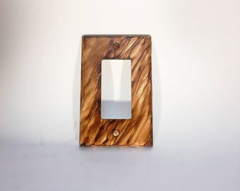 Painted Switchplate, Switchplate, Rocker Switchplate, Brown Switchplate, Switch Cover