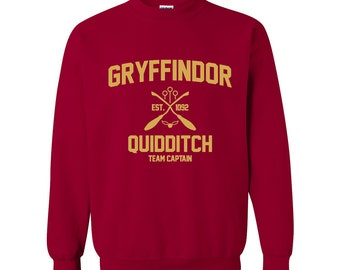 Harry Potter Sweatshirt Gryffindor Sweatshirt Harry Potter Gryffindor Quidditch Hogwarts Sweater Sweatshirt Crewneck Pullover Apparel Unisex