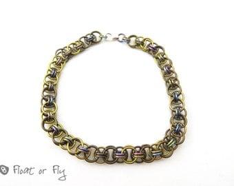 Helm Chain Maille Niobium Bracelet - Golden