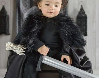 Satin or Suede Baby Jon Snow Cloak, Baby GameOfThrones Cosplay Baby Game of Thrones Cloak Toddler Jon Snow Cloak Toddler GameofThrones Cloak
