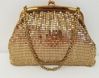 Whiting & Davis Gold Mesh Handbag  #37