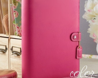 Webster's Pages Fuchsia Pink Color Crush A5 Planner Binder Complete Kit NONDATED Calendar Pages  - IN STOCK
