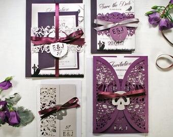 Gothic Wedding Invitations Etsy Uk