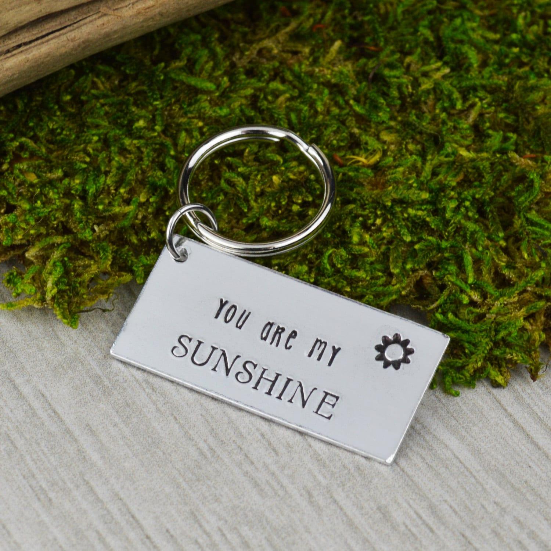 Keychains Lightupcircuitboardkeychain You Are My Sunshine Keychain