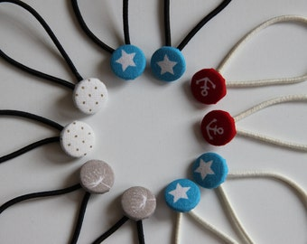 Button Hair Tie - Set of two