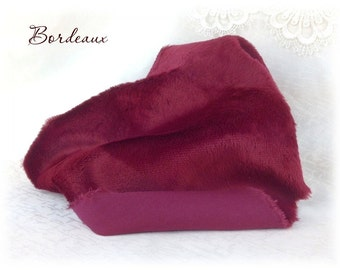 Italian VISCOSE Fabric Fur Bordeaux Colour 6-7 mm pile teddy bear making supplies plush