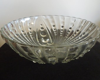 3 Footed Pressed Glass Bowl