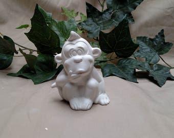 Small Ceramic Silly Monkey