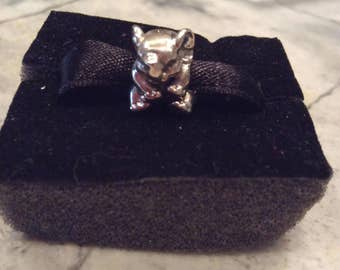 Authentic PANDORA Lucky Elephant Sterling Silver Charm with Pandora Suede/Velour Gift Pouch!