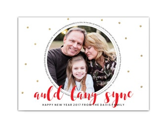 New Years Photo Card // Religious New Years Card // New Years Cards // Late Christmas Cards // Printable Auld Lang Syne Cards // The Davis