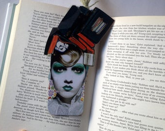Bookmark Handcrafted with collage/Original Collage work/Ideal gift for readers, book lovers/BUY two, pick ONE more for FREE!