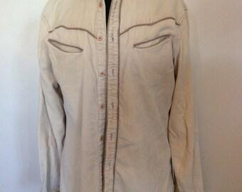 Vintage corduroy Cowboy Shirt - M