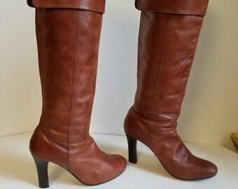 Vintage Steve Madden Boots. High Heel Soft Leather Upper Boots. SIZE US  6 1/2
