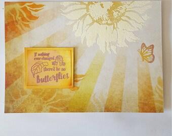 Handmade card, Whimsical Flower