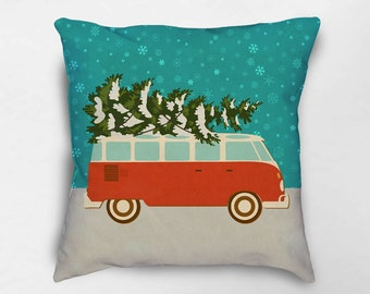 Christmas Pillow, Holiday Pillows, Christmas Decor, Retro Christmas Decor, Christmas Pillow Cover, Holiday Decor, Christmas Throw Pillow
