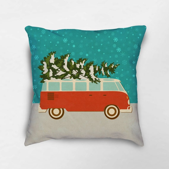 Christmas Pillow Holiday Pillows Christmas Decor Retro