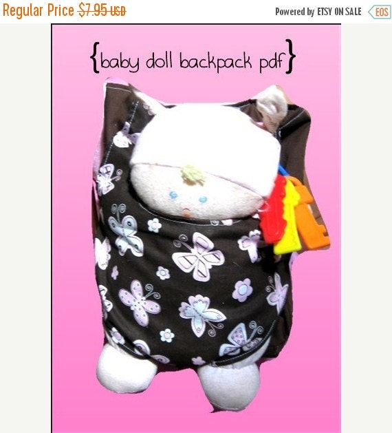 75 Off Sale Baby Doll Backpack Carrier For By Indipatterns