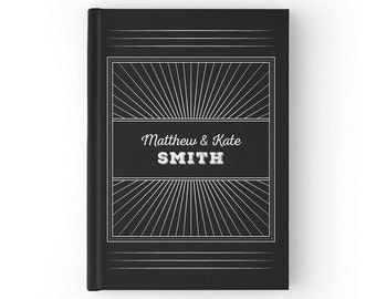 Art Deco Weddings, Rustic Wedding Guest Book, Black and White Wedding Guestbook, Chalkboard Wedding Chalkboards, SKU: GB 077