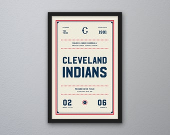 "Cleveland Indians ""Day & Night"" Print"