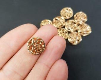 Asian Symbol Non Tarnish Charm - Gold