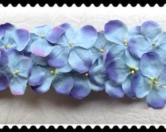 Blue Shades Elastic Flowers Belt, Flowers Belt, Blue Belt, Dress Embellishments, Flowers Embellishments, Wedding Accessories