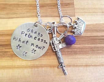 "The 100-Bellarke ""Okay, Princess"" Hand Stamped Necklace/Bracelet/Keychain -Bellamy Blake and Clarke Griffin"