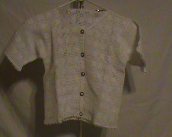 Crocheted sweater size small