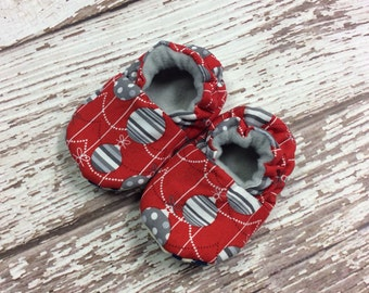 Christmas Ornament baby/toddler slippers