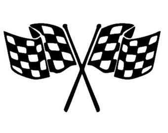 Checkered Flag Decal / Driver Number Sticker for car, truck, yeti, laptop, tumbler for NASCAR Racing Fan