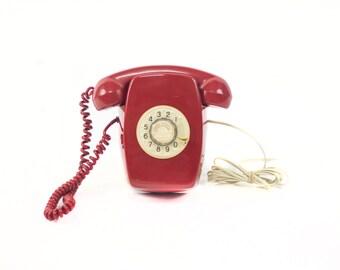 Heraldo CITESA Telephone Wall. Red colour. Mural phone.