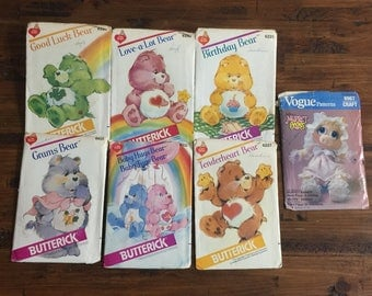 Vintage Collection Care Bear Patterns / Butterick