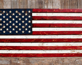 USA Flag American Flag Rustic American Flag Patriotic Wall Decor Rustic USA  Flag Patriotic Rustic Flag Part 78