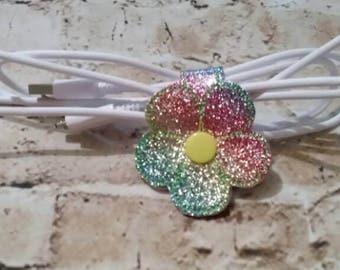 Flower - Snap - Cord Holder - In The Hoop - DIGITAL Embroidery Design
