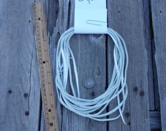 White leather lace, White leather cord, Soft leather lace