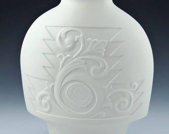 Promise Vase Fine translucent Porcelain native art Terry Jackson