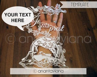 Papercut Template Commercial | Stag | Commercial Use | Design by Anantaviana