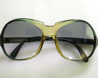 Givenchy Large Lens Vintage Sunglasses Blue-Green Ombre Fade