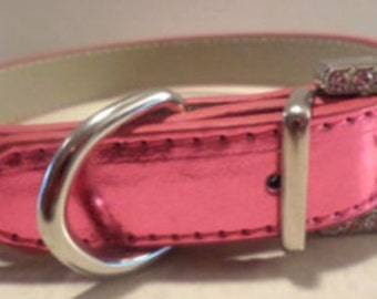Classy Metallic Dog Collars, Medium 16 inch Lengths!