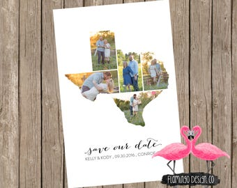 Texas Save The Date (state editable)