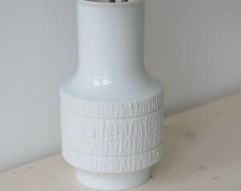 Vintage Op Art Vase Germany bisque matte Thomas