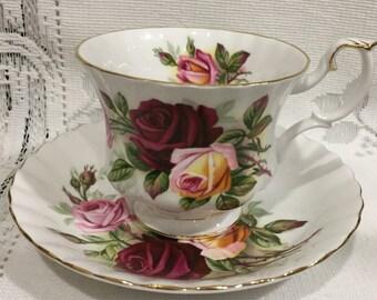 Vintage ROYAL ALBERT Fine Bone China Tea Cup & Saucer - King's Ransom