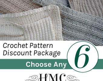 Crochet Pattern Package - Create Your Own Discount Pattern Package - Choose Any 6 Crochet Patterns by Hidden Meadow Crochet