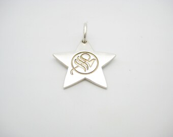 Tiffany & Co. Sterling Silver Star Charm Or Pendant