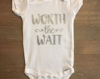 Worth the Wait baby onesie ComingHomeOutfit//Miracle//BabyGirl
