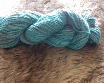 100g skein of Blue Faced Leicester Wool Blues/navy hand dyed