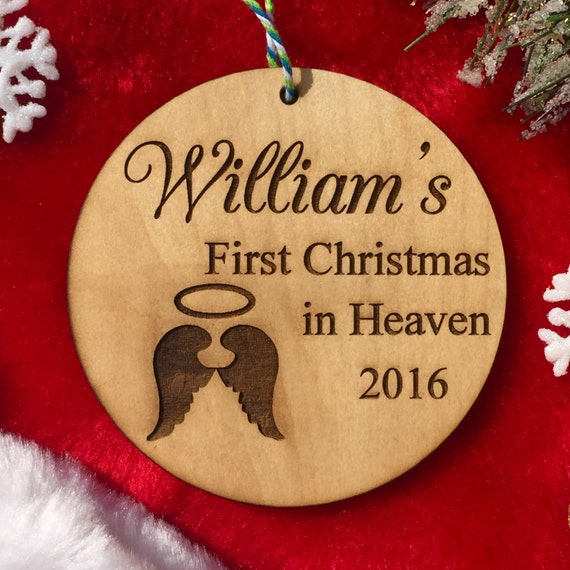 Personalized First Christmas in Heaven Ornament Loss of