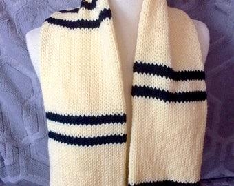 Hufflepuff scarf, Hogwarts scarf, Harry Potter Scarf, Cedric Diggory Scarf, Striped scarf