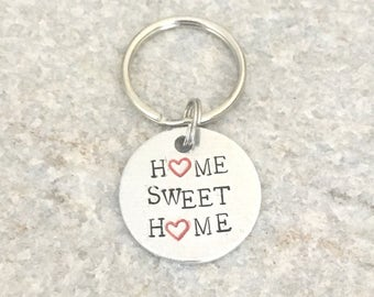 Home Sweet Home Keychain, New Homeowner Keychain, New Homeowner Gift, Custom Keychain, Personalized Keychain, Realtor Gift