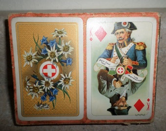 Vintage 1970's Switzerland Playing Cards Intact Great Graphics